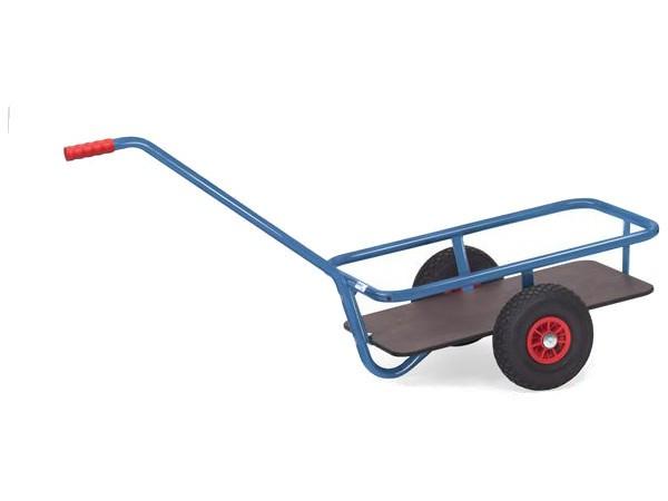 Der leichte und handliche Handwagen eignet sich auch zur Befestigung am Fahrrad.