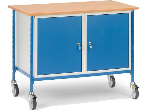 Der robuste Tischwagen kann bis zu 150 kg tragen.