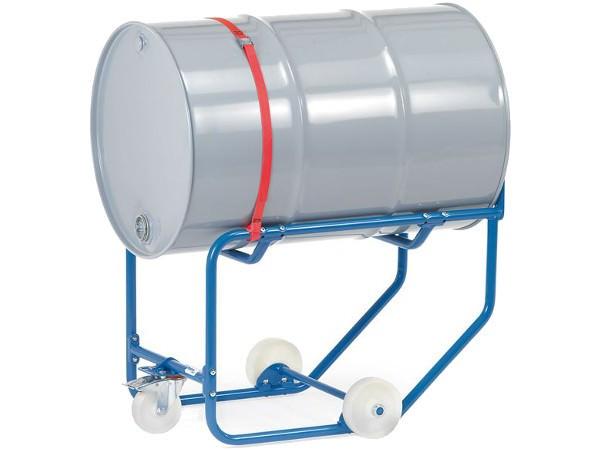 Der einfache Fasskipper besitzt keine Hebelstange und muss daher durch ein Hebegerät oder Kran beladen werden.