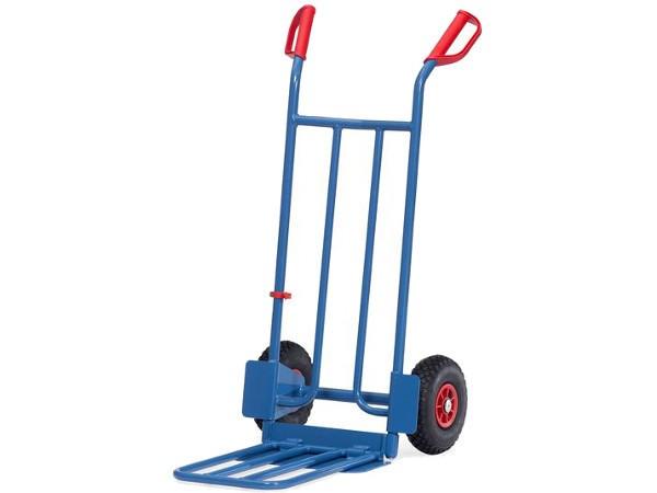 Der robuste Paketkarren kann bis zu 250 kg Last tragen.