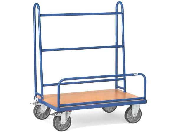 Der robuste Plattenwagen aus stahl kann schwere und unhandliche Platten gefahrenlos transportieren.