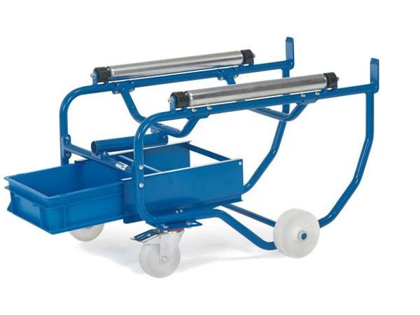 Die praktische Tropölwanne lässt sich unter den Fasskipper schieben und verhindert das Flüssigkeiten auf den Boden tropfen.