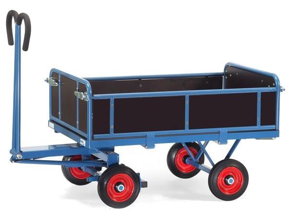 Der hochwertige Handpritschenwagen eignet sich optimal zum Transport von schweren Lasten bis 700 kg.