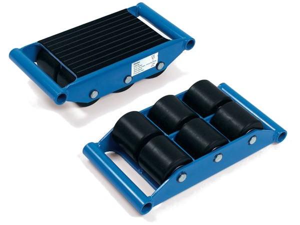 Der robuste Transportroller kann Lasten bis 6000 kg pro Stück tragen.