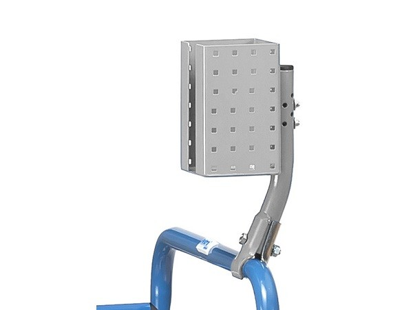 Der Scannerhalter kann beliebig am Transportwagen befestigt werden.