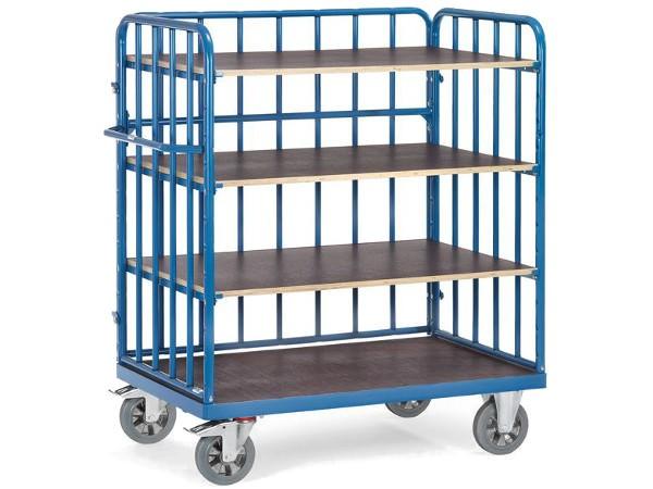 Der fetra Etagenwagen eignet sich perfekt um schwere Lasten sicher von A nach B zu transportieren.