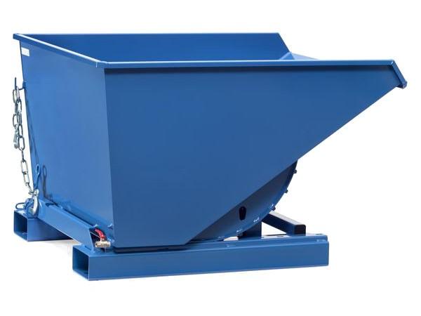 Der robuste Selbstkipper ist mit einen Ablasshahn ausgestattet - dank dieser Zusatzfunktion können Flüssigkeiten gezielt abfließen.