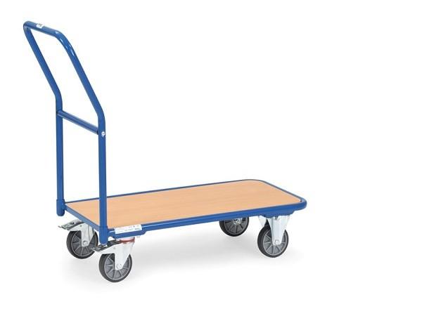 Der leichte Magazinwagen aus dem Hause Fetra ermöglicht den einfachen Transport von Lasten bis 250 kg.