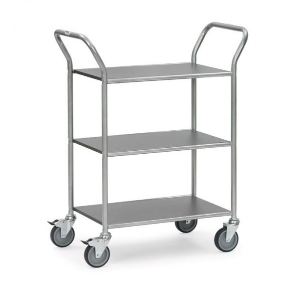Der 3-stöckige Servierwagen bietet genug Platz für Geschirr und Getränke.