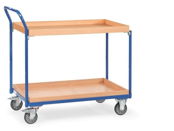 Der Tischwagen ist flexibel einsetzbar - er kann als Transportmittel dienen oder als Arbeitsunterlage genutzt werden.