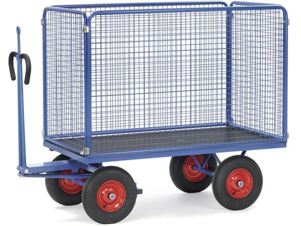 Der praktische Handwagen eignet sich perfekt um unhandliche Lasten einfach zu transportieren.