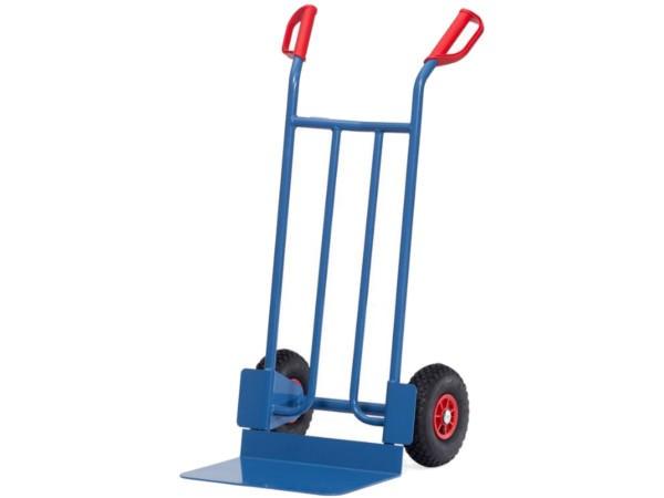 Der robuste Karren mit extra breiter Schaufel ermöglicht den Transport von sehr schweren Lasten bis 250 kg.