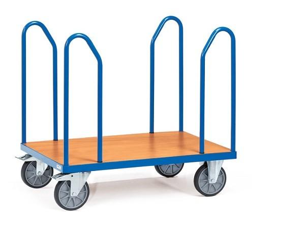 Der Seitenbuegelwagen aus dem Hause Fetra eignet sich perfekt um sperrige Gegenstände wie Platten von A nach B zu transportieren.