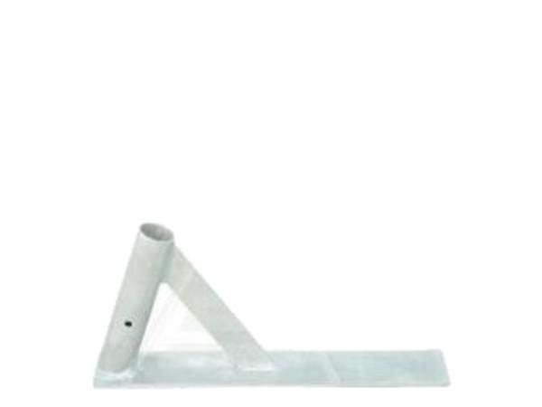 Der schräge Fuß ist speziell für Gitterelemente aus dem Hause Schake.