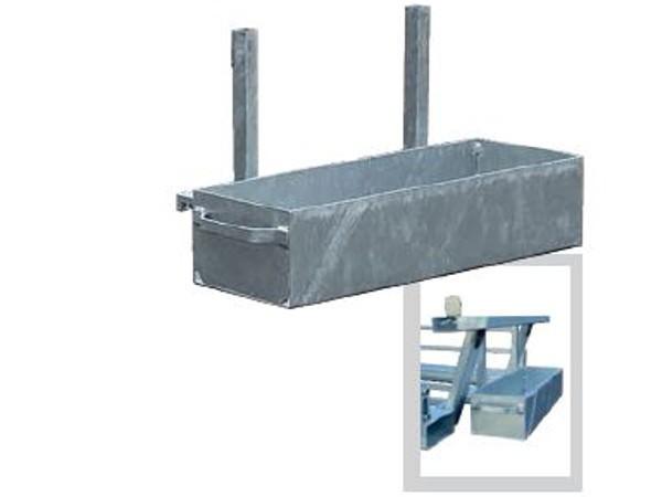 Die Wanne dient als Sammelbox von Verbindungsschellen. Die Wanne lässt sich einfach an der Twintraverse einhängen.