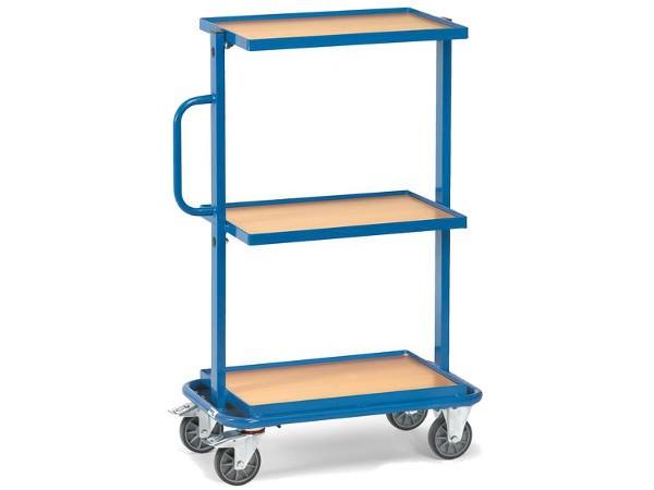 Der praktische Beistelltisch ist mit 3 Holz-Ladeflächen ausgestattet und kann bis zu 200 kg Last tragen.