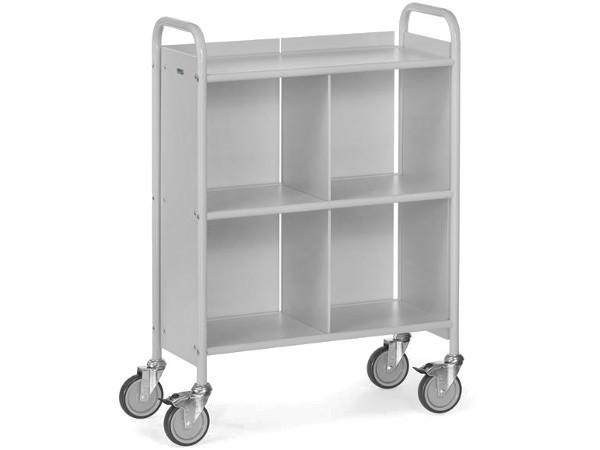 Der kompakte Bürowagen wird im zerlegten Zustand ausgeliefert und kann mit wenigen Handgriffen zusammengebaut werden.
