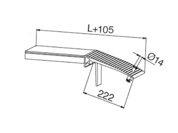 Die verlängerte Auflagerzunge ist optimal für Fahrzeuge geeignet - durch das extralange Auflager können keine Schäden am Fahrzeug entstehen.