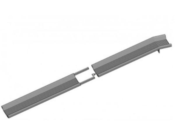 Der Bajonett-Verschluss ermöglicht eine platzsparende Handhabung.