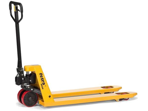Der Gabelhubwagen 2117 ist optimal geeignet um schwere Lasten bis 2.500 kg sicher und leicht zu transportieren.