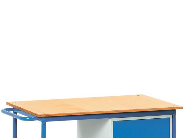 Die Arbeitsplatte ist speziell für schwere Werkstattwagen und kann auf die bisherige Platte aufgeschraubt werden.