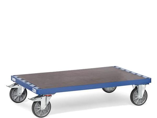 Der praktische Plattenwagen kann mit frei wählbaren Einsteckbügel ausgestattet werden.