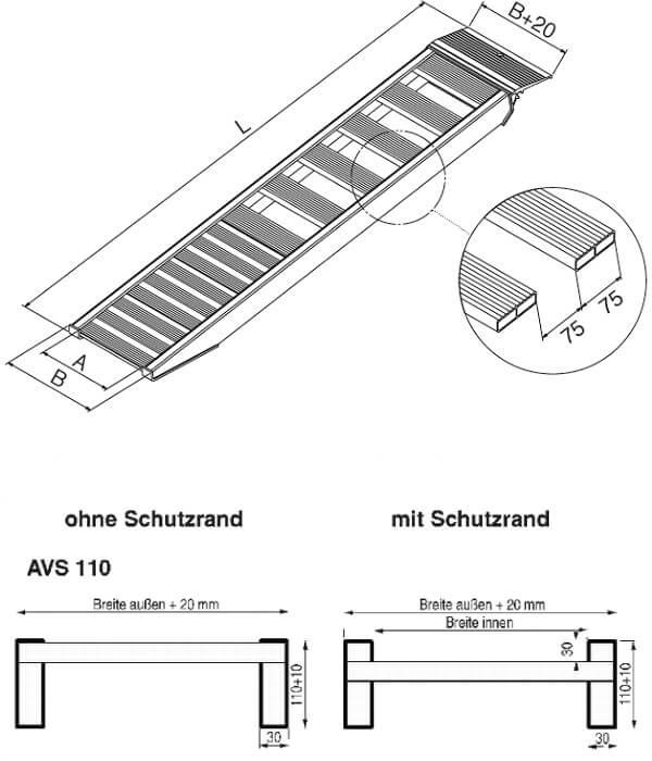 technische-Zeichnung-AVSS-Auffahrrampe-Auffahrschienen110