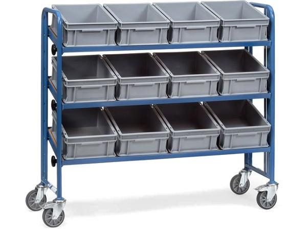 Der Montagewagen bietet Platz für 12 Eurokästen.