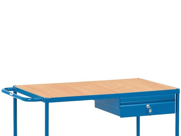 Die Schublade beinhaltet ein Kugellauflager und ist zudem abschließbar.