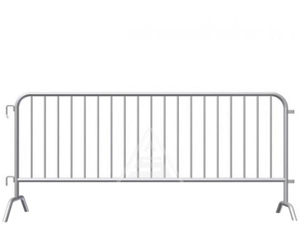 Das robuste Absperrgitter aus Stahl sorgt für maximale Sicherheit auf Events.