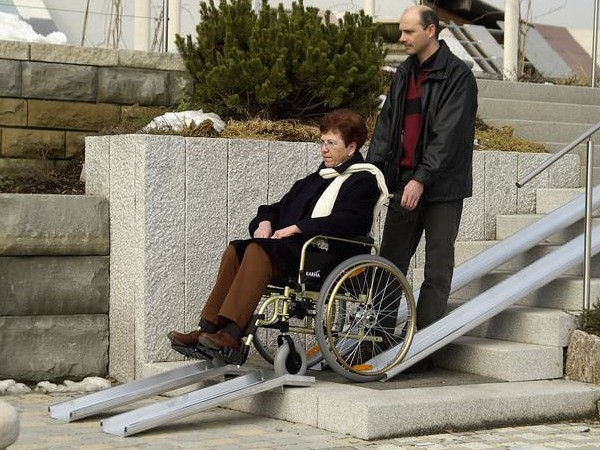 Rollstuhlschienen