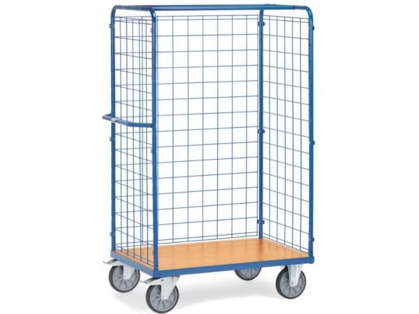 Dieser Transportwagen kann auf Wunsch mit Einlegeböden oder Einlegekästen ausgestattet werden.