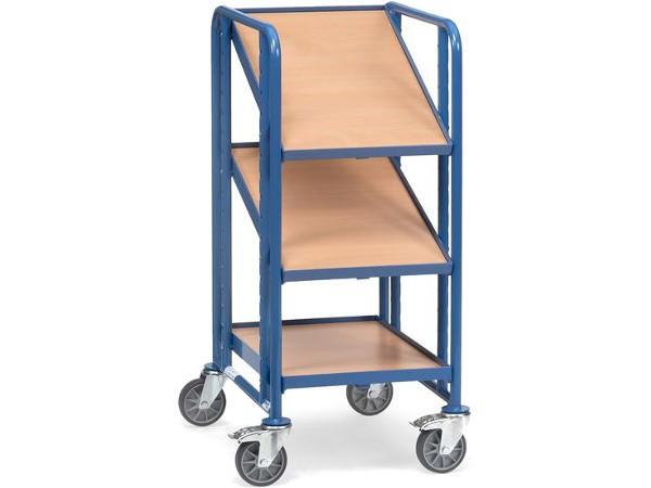 Der robuste Eurokastenwagen mit Holzboden kann bis zu 3 Eurokästen aufnehmen.