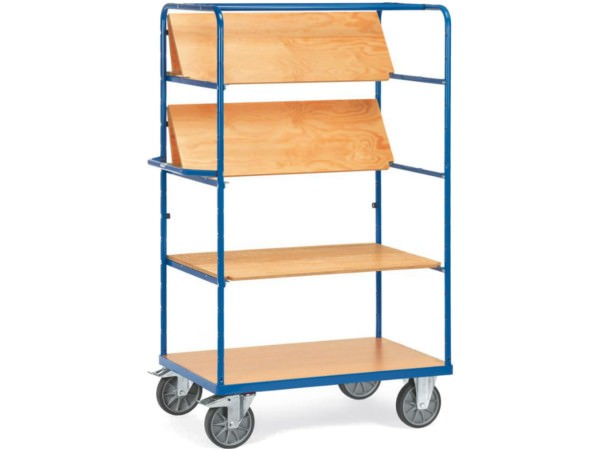 Die faltbaren Einlegeböden können bis zu 90 kg pro Ebene tragen.