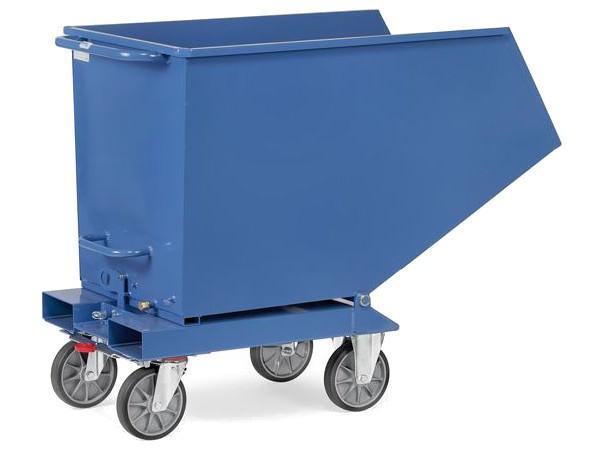 Der robuste Muldenkipper aus Stahlblech kann bis zu 800 kg an Last tragen.