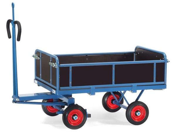 Der tragfähige Transportwagen eignet sich perfekt um viele Gegenstände sicher von A nach B zu fahren.