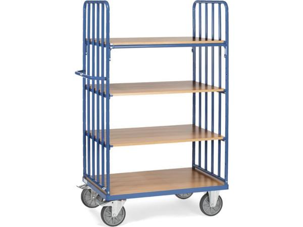 Mithilfe des Etagenwagen können schwere Lasten bis über 600 kg transportiert werden.