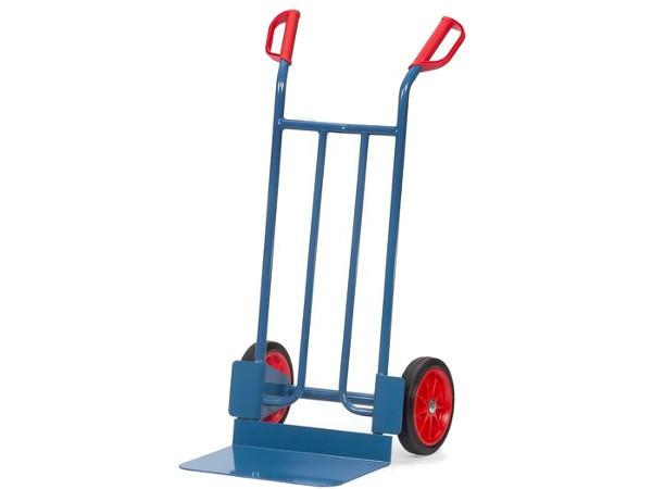 Der robuste Karren kann dank der Bauweise Kisten und andere Lasten bis 250 kg problemlos tragen.