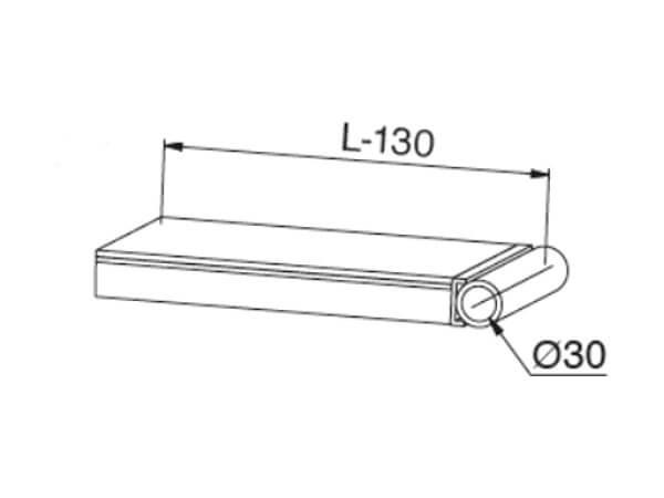 Das Rohrauflager mit einem Durchmesser von 30 mm ist ideal wenn diese Schienen fest am Fahrzeug montiert werden sollen.