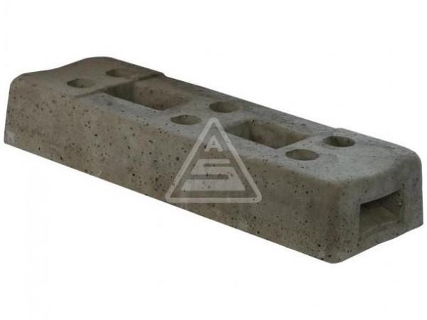 Der robuste Mobilzaunfuß besteht aus Beton und ist in Ausführungen erhältlich.
