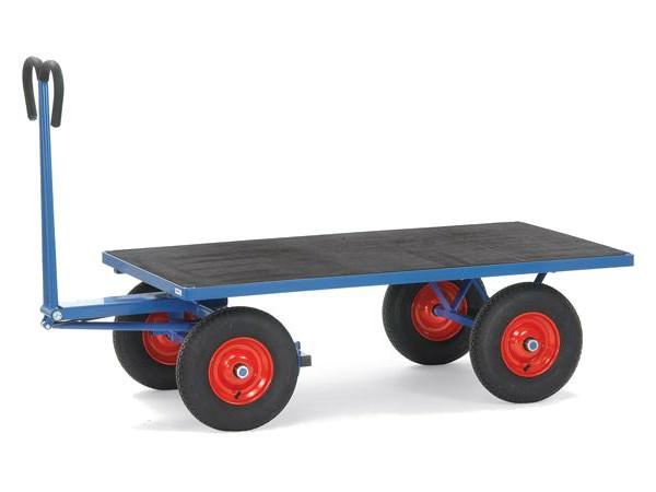 Der robuste Handpritschenwagen kann bis zu 1.000 kg an Last tragen.