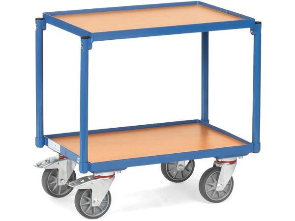 Der kompakte Etagenroller kann Lasten bis 250 problemlos tragen.
