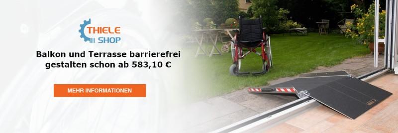 Rollstuhlrampe für Balkon und Terrasse