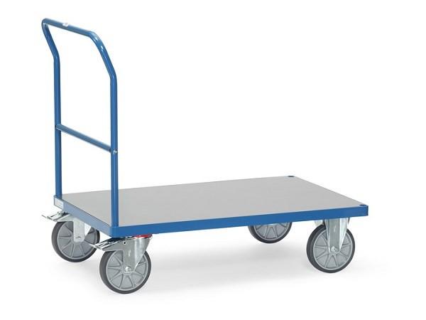 Der Fetra Transportwagen ist mit einer Hart-PVC-Bodenplatte ausgestattet.