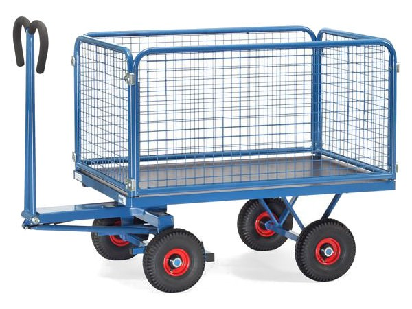 Der Handpritschenwagen umfasst 4 Wände mit einer Höhe von 600 mm.